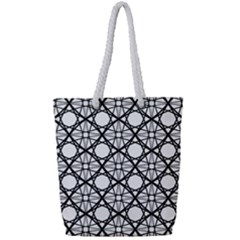 Line Stripe Curves Curved Seamless Full Print Rope Handle Tote (small)
