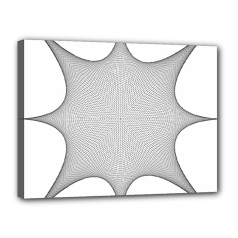 Star Grid Curved Curved Star Woven Canvas 16  X 12