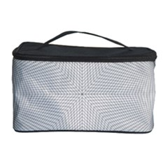 Star Grid Curved Curved Star Woven Cosmetic Storage Case