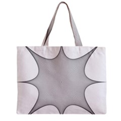 Star Grid Curved Curved Star Woven Zipper Mini Tote Bag by BangZart