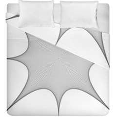 Star Grid Curved Curved Star Woven Duvet Cover Double Side (king Size) by BangZart