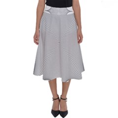 Star Grid Curved Curved Star Woven Perfect Length Midi Skirt