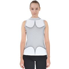 Star Grid Curved Curved Star Woven Shell Top