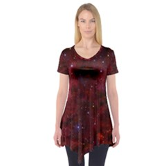 Abstract Fantasy Color Colorful Short Sleeve Tunic