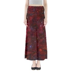 Abstract Fantasy Color Colorful Full Length Maxi Skirt