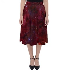 Abstract Fantasy Color Colorful Folding Skater Skirt