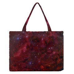 Abstract Fantasy Color Colorful Zipper Medium Tote Bag