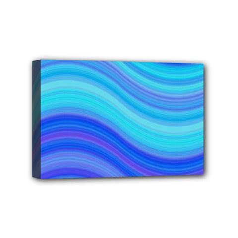Blue Background Water Design Wave Mini Canvas 6  X 4