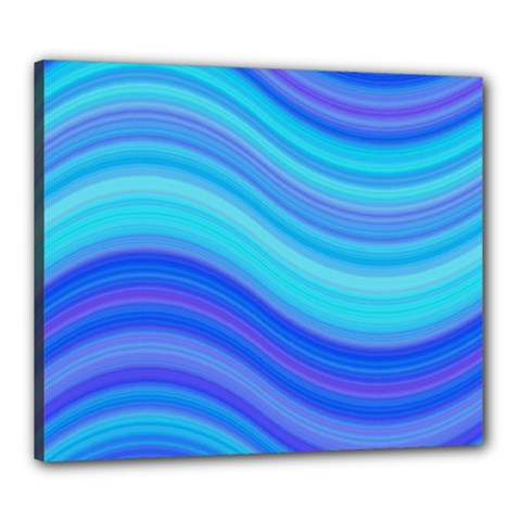 Blue Background Water Design Wave Canvas 24  X 20  by BangZart