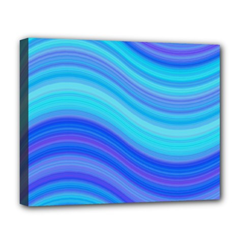 Blue Background Water Design Wave Deluxe Canvas 20  X 16