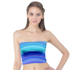 Blue Background Water Design Wave Tube Top