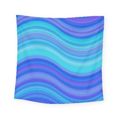 Blue Background Water Design Wave Square Tapestry (small)
