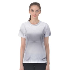 Background Line Motion Curve Women s Sport Mesh Tee