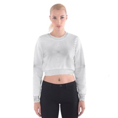Background Line Motion Curve Cropped Sweatshirt