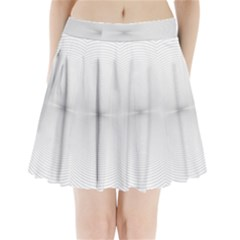 Background Line Motion Curve Pleated Mini Skirt