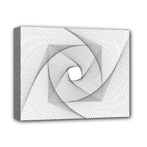Rotation Rotated Spiral Swirl Deluxe Canvas 14  X 11