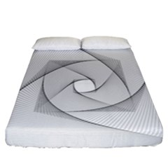 Rotation Rotated Spiral Swirl Fitted Sheet (california King Size) by BangZart