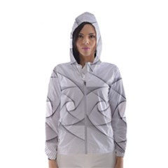 Rotation Rotated Spiral Swirl Hooded Wind Breaker (women)