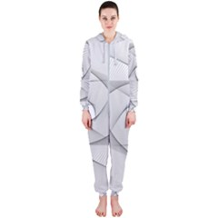 Rotation Rotated Spiral Swirl Hooded Jumpsuit (ladies)