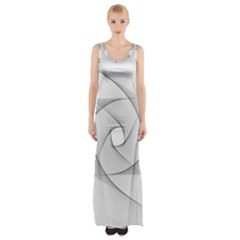 Rotation Rotated Spiral Swirl Maxi Thigh Split Dress