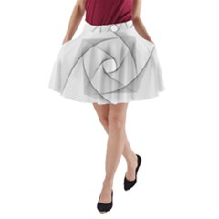 Rotation Rotated Spiral Swirl A Line Pocket Skirt