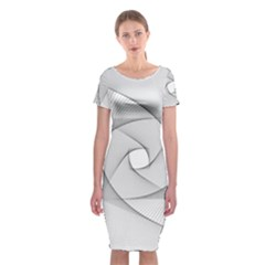 Rotation Rotated Spiral Swirl Classic Short Sleeve Midi Dress