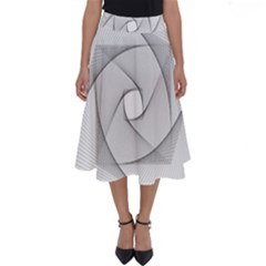 Rotation Rotated Spiral Swirl Perfect Length Midi Skirt