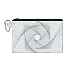 Rotation Rotated Spiral Swirl Canvas Cosmetic Bag (medium) by BangZart