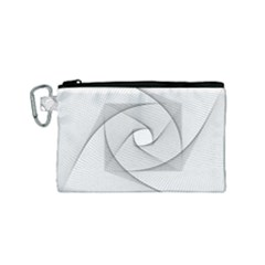 Rotation Rotated Spiral Swirl Canvas Cosmetic Bag (small) by BangZart