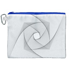 Rotation Rotated Spiral Swirl Canvas Cosmetic Bag (xxl) by BangZart