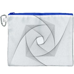 Rotation Rotated Spiral Swirl Canvas Cosmetic Bag (xxxl) by BangZart