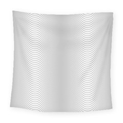 Monochrome Curve Line Pattern Wave Square Tapestry (large)