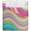 Wave Background Happy Design Duvet Cover Double Side (California King Size) View1