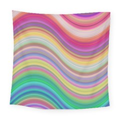Wave Background Happy Design Square Tapestry (large)