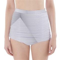 Background Pattern Stripe High Waisted Bikini Bottoms