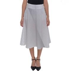 Background Pattern Stripe Perfect Length Midi Skirt