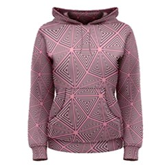 Triangle Background Abstract Women s Pullover Hoodie