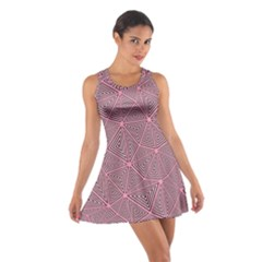 Triangle Background Abstract Cotton Racerback Dress
