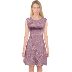 Triangle Background Abstract Capsleeve Midi Dress