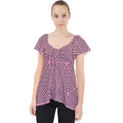 Triangle Background Abstract Lace Front Dolly Top
