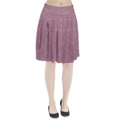 Triangle Background Abstract Pleated Skirt