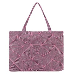 Triangle Background Abstract Zipper Medium Tote Bag