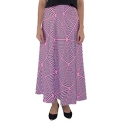 Triangle Background Abstract Flared Maxi Skirt by BangZart
