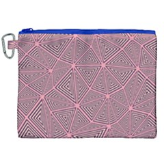 Triangle Background Abstract Canvas Cosmetic Bag (xxl)