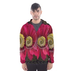Fantasy Flower Fractal Blossom Hooded Wind Breaker (men)