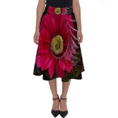 Fantasy Flower Fractal Blossom Perfect Length Midi Skirt