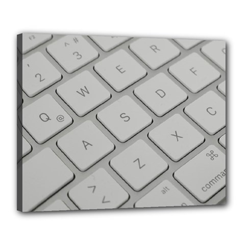 Keyboard Letters Key Print White Canvas 20  X 16