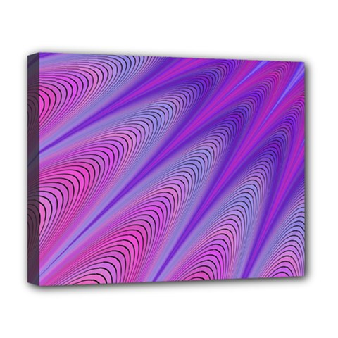 Purple Star Sun Sunshine Fractal Deluxe Canvas 20  X 16   by BangZart
