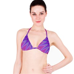 Purple Star Sun Sunshine Fractal Bikini Top