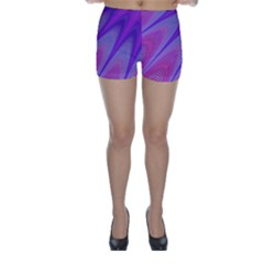 Purple Star Sun Sunshine Fractal Skinny Shorts